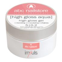 Gel UV HIGH GLOSS AQUA Impuls 15gr  ABC NAILSTORE